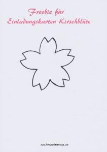 Kirschblüten Freebie Einladungskarten