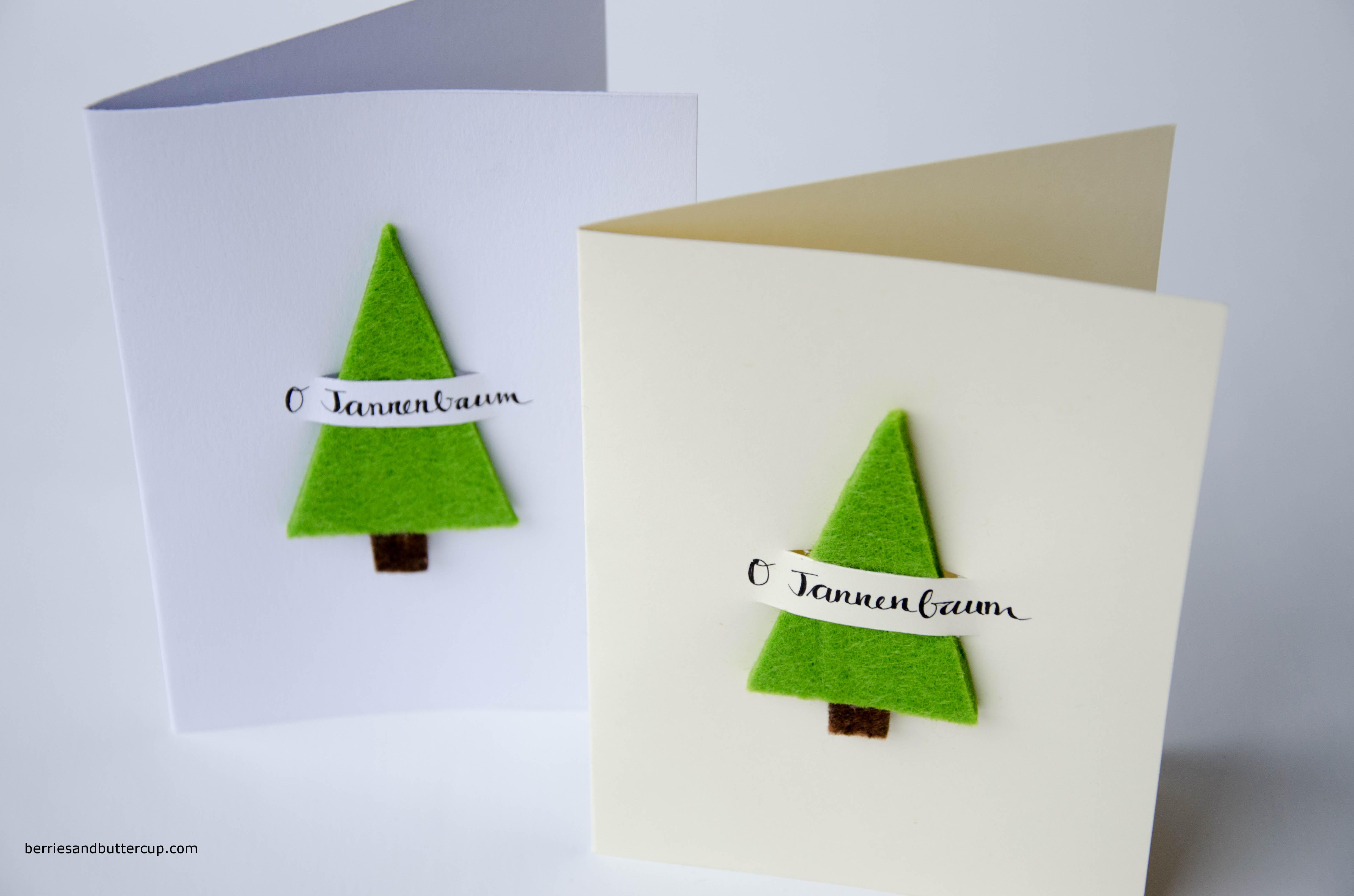 DIY:Weihnachtskarten Ganz Einfach Und Schnell Selbermachen