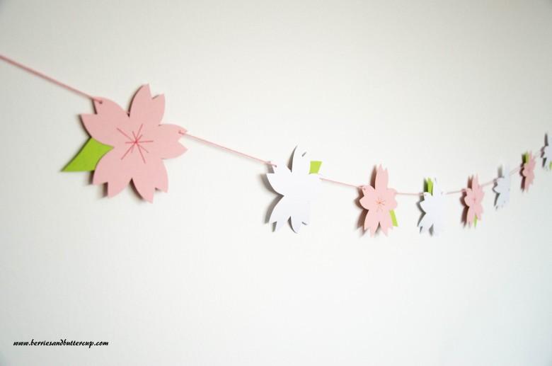 Papiergirlande Kirschblüten DIY Anleitung (10)