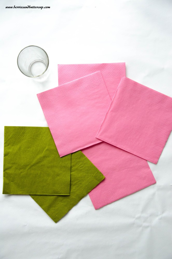 Servietten falten Kirschblüte DIY Anleitung Tischdeko (1)