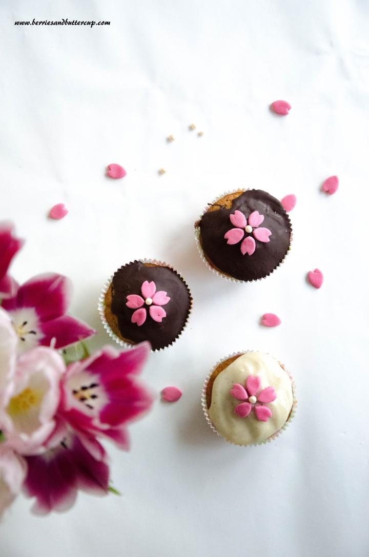 Cupcake Kirschblüten (37)
