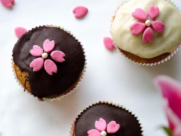 Cupcake Kirschblüten (42)
