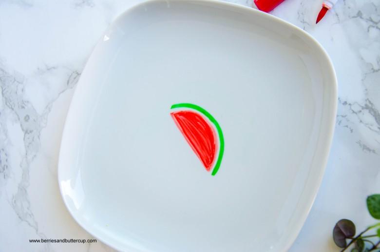 2017 06 21_Porzellan mit Wassermelone bemalen-5