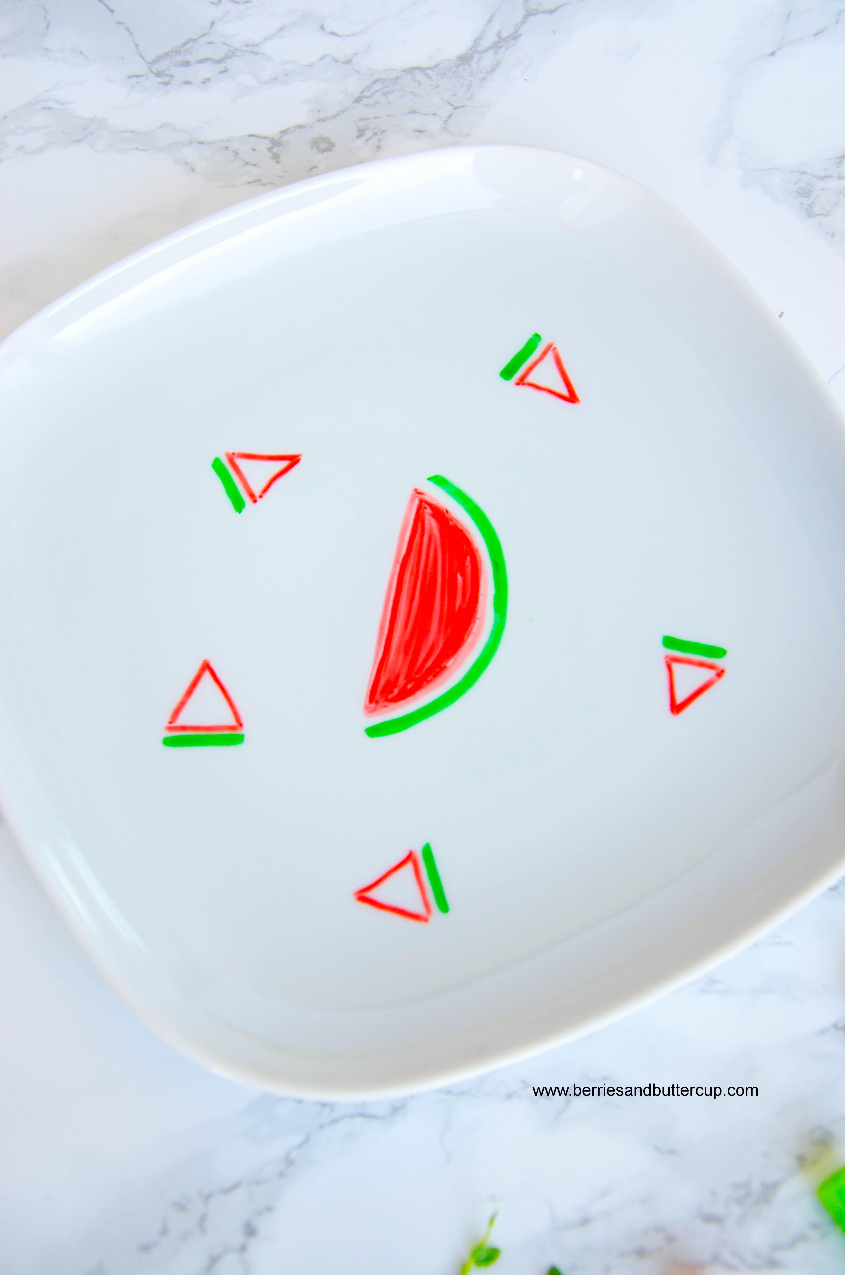 2017 06 21_Porzellan mit Wassermelone bemalen-7