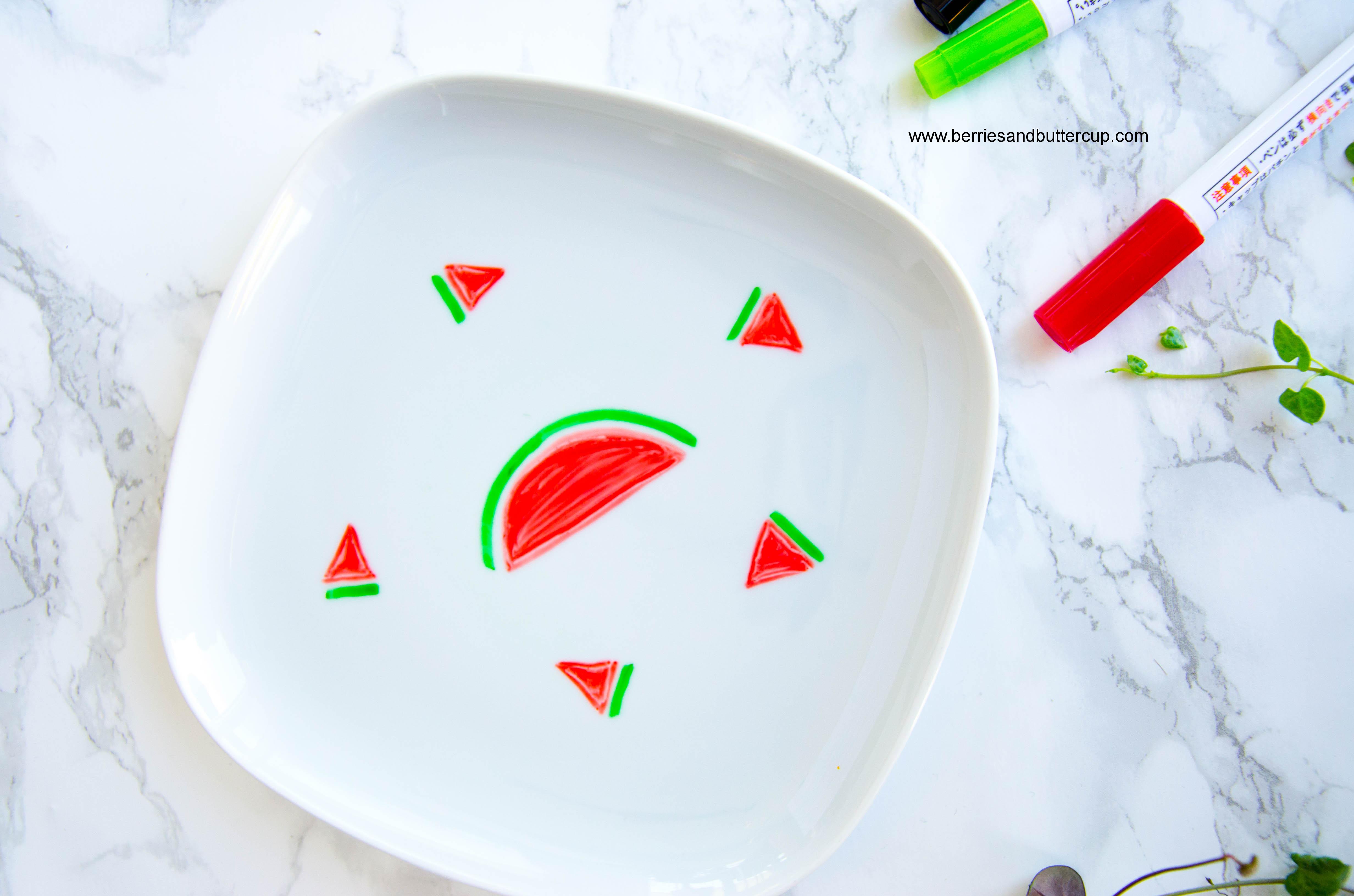 2017 06 21_Porzellan mit Wassermelone bemalen-8