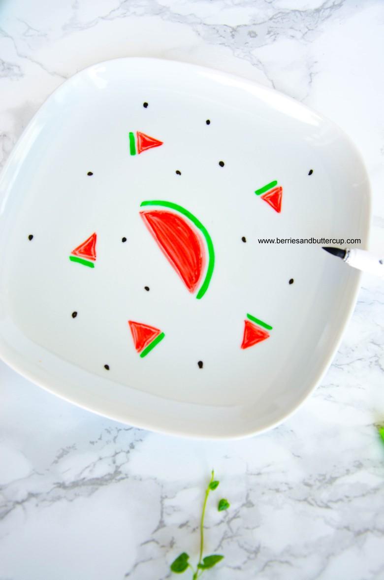 2017 06 21_Porzellan mit Wassermelone bemalen-9