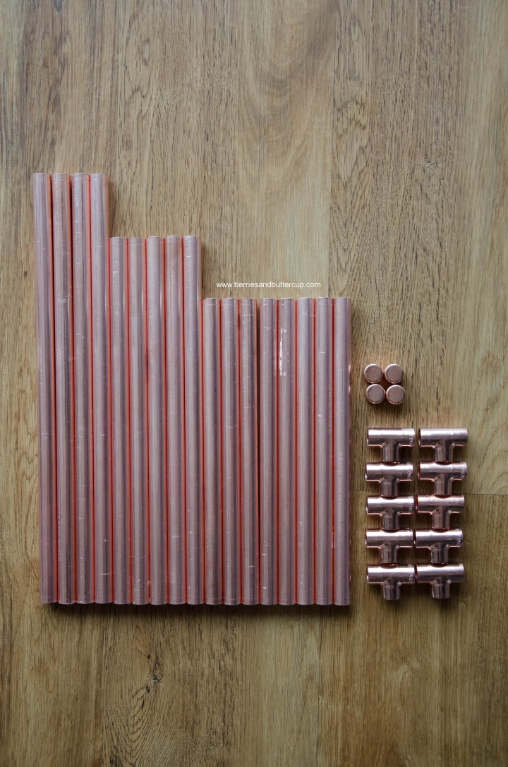 DIY Kupferrohr Leiter Anleitung Copper ladder Do it yourself (12)