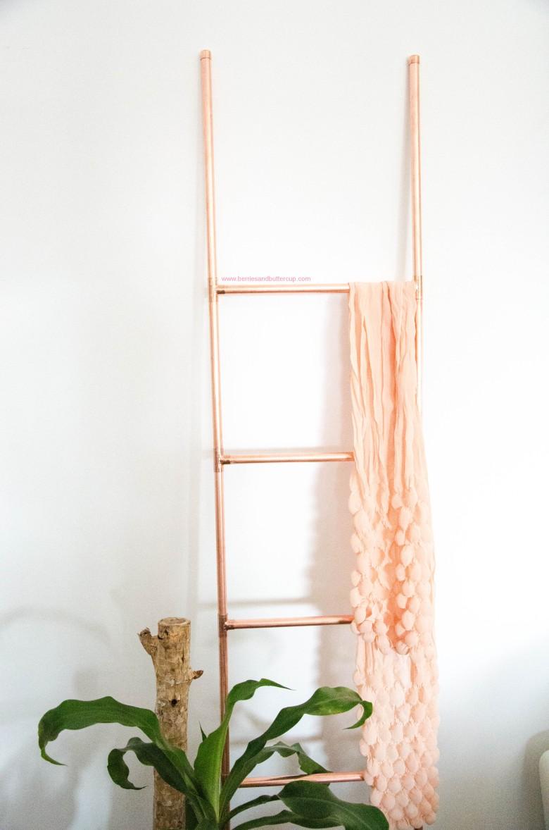 DIY Kupferrohr Leiter Anleitung Copper ladder Do it yourself (22)