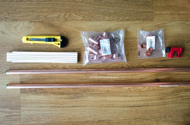 DIY Kupferrohr Leiter Anleitung Copper ladder Do it yourself (4)